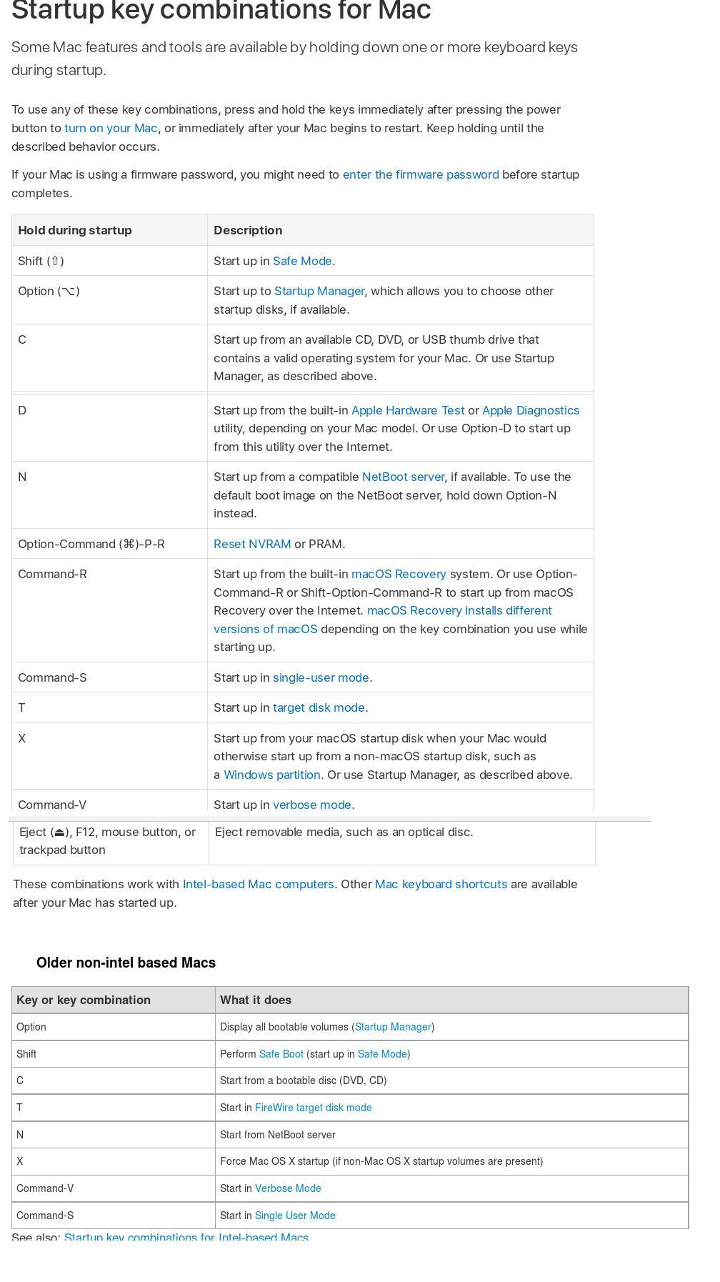 Apple/Mac/OSx info